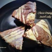 Choco orange swirl cake